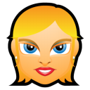 Female Face FE 1 Blonde Emoticon