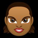 Female Face Fd 5 Dark Emoticon
