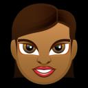 Female Face FD 4 Dark Emoticon