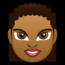 Female Face FD 3 Dark Emoticon