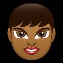 Female Face Fd 2 Dark Emoticon