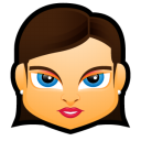 Female Face FB 1 Emoticon