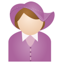 Miss Purple Hat Emoticon