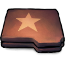 Folder Brown Star Emoticon