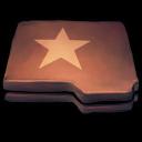 Folder Brown Star Emoticon