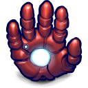 Comics Ironman Hand Emoticon