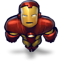 Comics Ironman Flying Emoticon