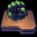 Comics Hulk Fist Folder Emoticon