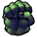 Comics Hulk Fist Emoticon