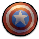 Comics Captain America Shield Emoticon