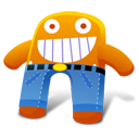 Creature Orange Pants Emoticon