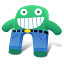 Creature Green Blue Pants Emoticon