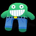 Creature Green Blue Pants Emoticon
