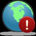 Globe Warning Emoticon