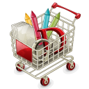 Full Shopping Cart Emoticon