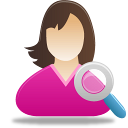 Female User Search Emoticon