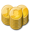 Gold Coin Stacks Emoticon