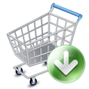 Shop Cart Down Emoticon