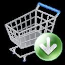 Shop Cart Down Emoticon