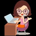 Callcenter Girls Glasses Emoticon