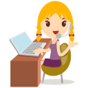 Callcenter Girls Blonde Emoticon