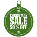 Christmas Sale 50 Percent Off Emoticon
