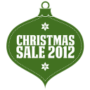 Christmas Sale 2012 Green Emoticon