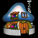 Smurf House Smurfette Emoticon