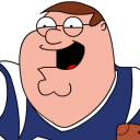 Peter Griffin Football Zoomed 2 Emoticon
