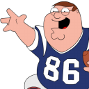 Peter Griffin Football Zoomed Emoticon