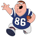 Peter Griffin Football Emoticon