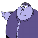 Peter Griffin Blueberry Zoomed Emoticon