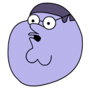 Peter Griffin Blueberry Head Emoticon