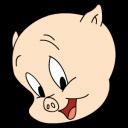 Porky Posing Emoticon
