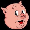 Old Porky Color Emoticon