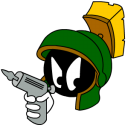 Marvin Martian Angry With Gun Emoticon