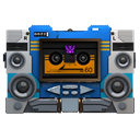 Transformers Soundwave Tape Front Emoticon