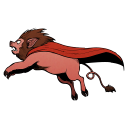 Super Lion Pig Emoticon