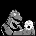 Robot Dino Emoticon