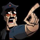 Axe Cop Point Emoticon