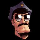 Axe Cop Head Emoticon