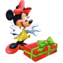 Minnie Christmas Emoticon