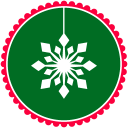 Christmas Snow Flakes 2 Emoticon