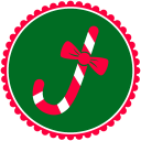 Christmas Candy Cane Emoticon
