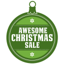 Awesome Christmas Sale Emoticon