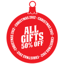 All Gifts 50 Percent Off Emoticon