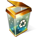Recycle Bin Empty Emoticon