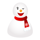 Wink Snowman Emoticon