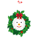 Snowman Wreath Emoticon