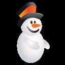 Christmas Snowman Emoticon